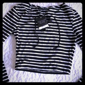 Striped crop from top shop NWT